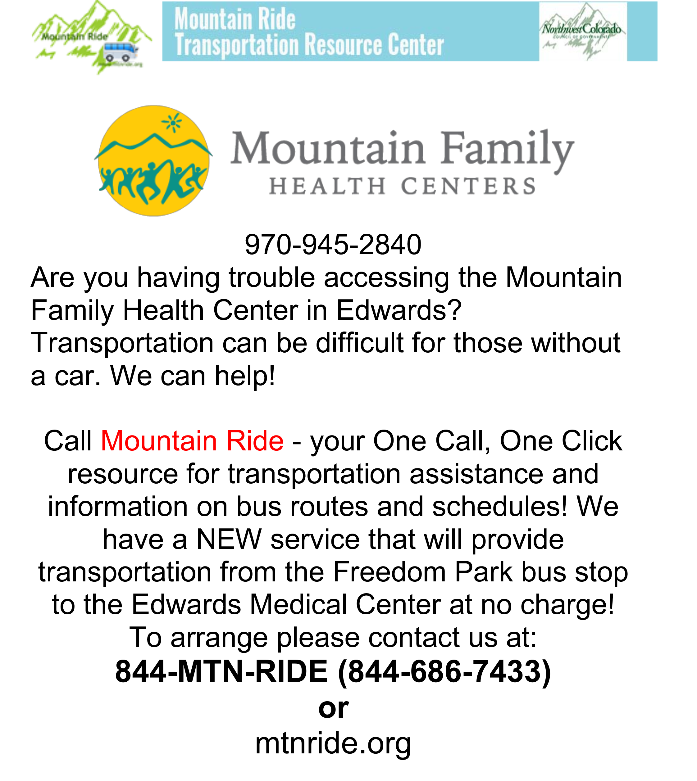 Mountain Ride News - Mountain Ride Transportation Resource